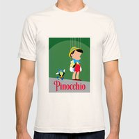 Pinocchio Mens Fitted Tee Natural SMALL
