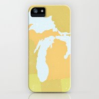 iPhone Cases featuring The GREAT LAKES of NORTH AMERICA by The Mighty Mitten - Great Lakes Art
