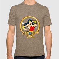 FIGHT LIKE A GIRL Mens Fitted Tee Tri-Coffee SMALL