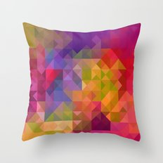 Bright Colorful Geometric Abstract Throw Pillow