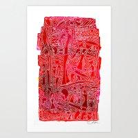 Single Fin Saturday  Art Print