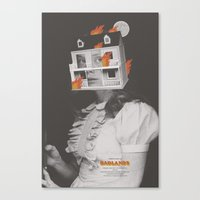 Badlands Alt Movie Poste… Canvas Print