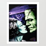 Bride Of Frankenstein Mo… Art Print