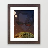 Wanda, Kisses from Planet UZU- Dawn version  Framed Art Print