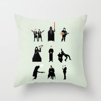Men in Black Throw Pillow
