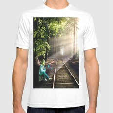 Dream Line SMALL Mens Fitted Tee White
