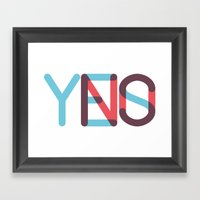 Yes/No Framed Art Print