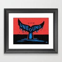 Unbound Whale Framed Art Print