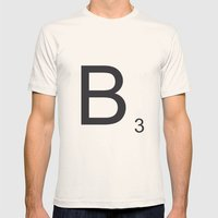 Scrabble B Mens Fitted Tee Natural SMALL
