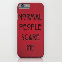 iPhone & iPod Case featuring Normal People Scare Me by Wis Marvin