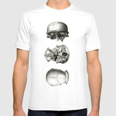 Triplets White SMALL Mens Fitted Tee