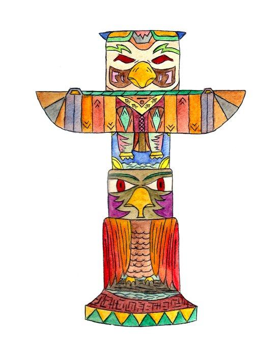 TotemPole Art Print