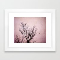 Plum Dusk Framed Art Print