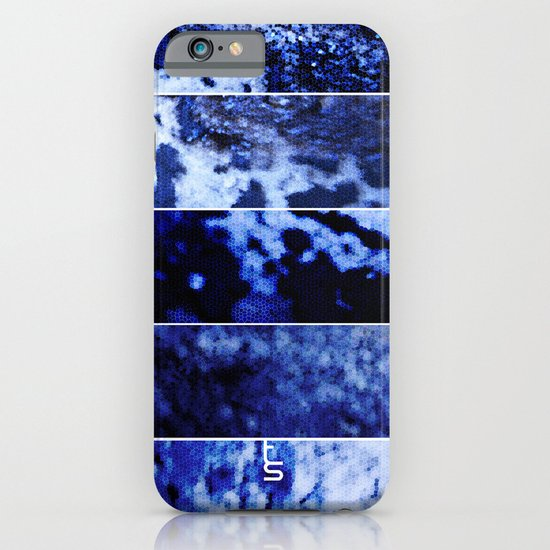 Blue Magnification (Five Panels Series) iPhone & iPod Case