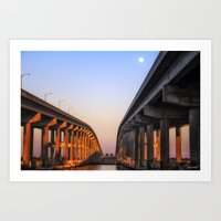 Between The Causeway Art Print