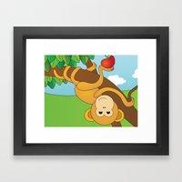 Cute Monkeys Part B Framed Art Print