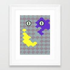 Chesire Scales - Cat Eye - Wonderland Framed Art Print