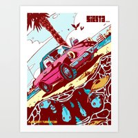 Siesta Beach 3 Art Print