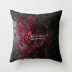 You can do it-red Throw Pillow