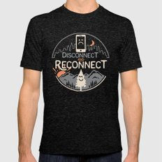 Reconnect... Mens Fitted Tee Tri-Black SMALL