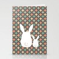 Bunny / Vintage pattern #1 Stationery Cards