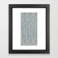 Freeform Arrows in navy Framed Art Print