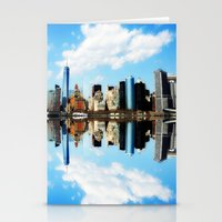 new york Stationery Cards featuring New York New York by haroulita