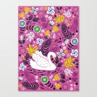 Delightful Swan Canvas Print