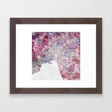 Melbourne Map Framed Art Print