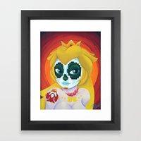 Day of the Digital Dead Princess Peach Framed Art Print