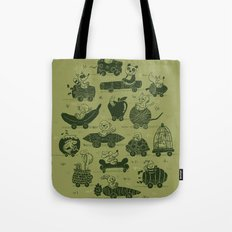 Critter Cars Tote Bag