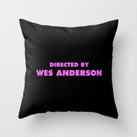 Directed By Wes Anderson Throw Pillow