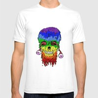 Melty Face Mens Fitted Tee White SMALL