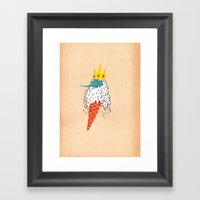 Ice King As An Ice Cream… Framed Art Print