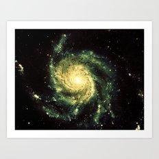 Spiral Galaxy : Messier 101 Art Print
