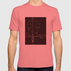 Desert Summer Mens Fitted Tee Pomegranate SMALL