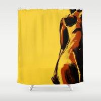 Swimmer #2 Shower Curtain