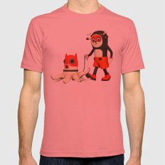 Deeryk and DaPet Mens Fitted Tee Pomegranate SMALL