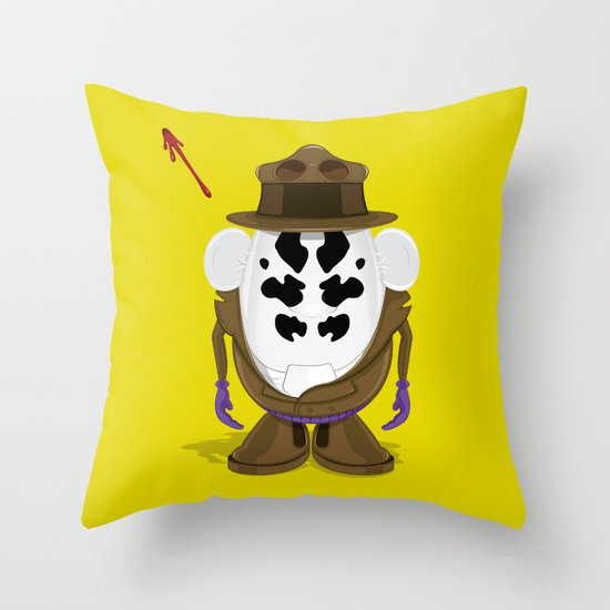 Mr Potato R. Throw Pillow