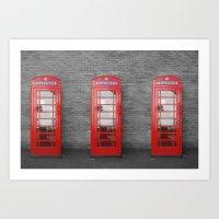 Phone Box Fun Art Print