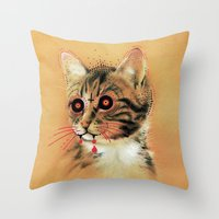 Devil Katz Throw Pillow
