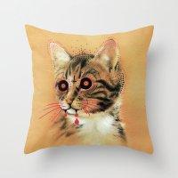 Devil Katz Throw Pillow