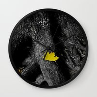 A spark of color Wall Clock