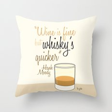 Tv drink quotes [Californication] Throw Pillow
