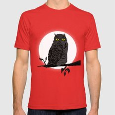 Night Owl V. 2 Mens Fitted Tee Red SMALL