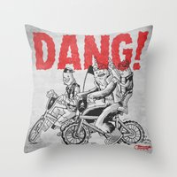 Dang! Throw Pillow