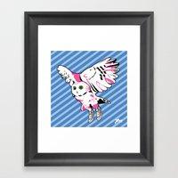 Owl w/ sneakers Framed Art Print