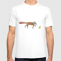 fox and the duck Mens Fitted Tee White SMALL