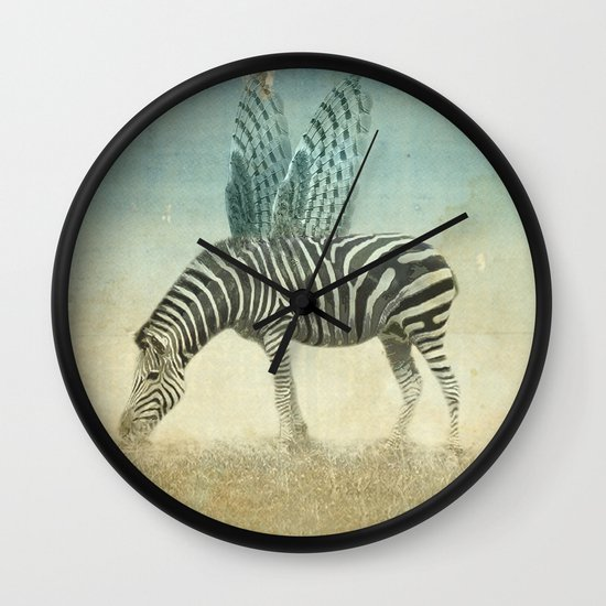 on the wings Wall Clock
