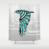 Hawk Deco II Shower Curtain